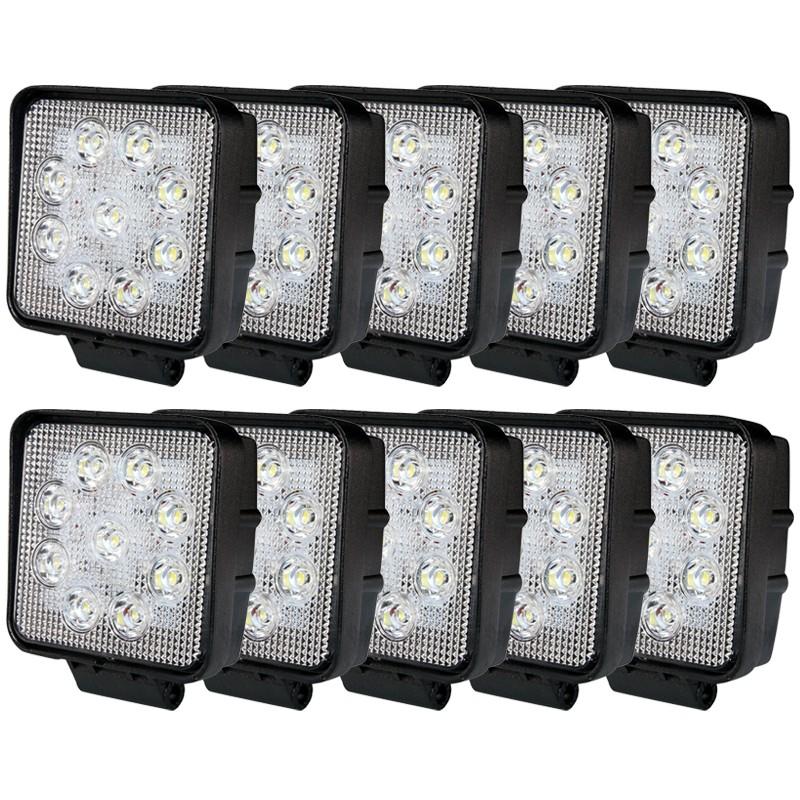 10-PACK LED arbetsbelysning paket 27W