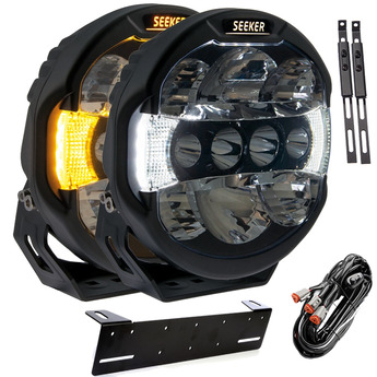 "2-PACK SEEKER QUANTUM LED Extraljuspaket 9"" tum 120W"