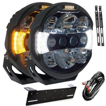 "2-PACK SEEKER QUANTUM LEDZER LED Extraljus 9"" tum"