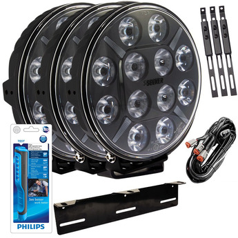 3-PACK SEEKER 12X 120W LED extraljus paket