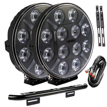 2-PACK SEEKER 12X 120W extraljus med fordonsbåge