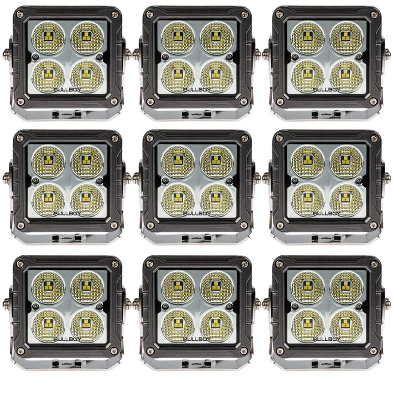 10-PACK LED arbetsbelysning 50W, OSRAM S8